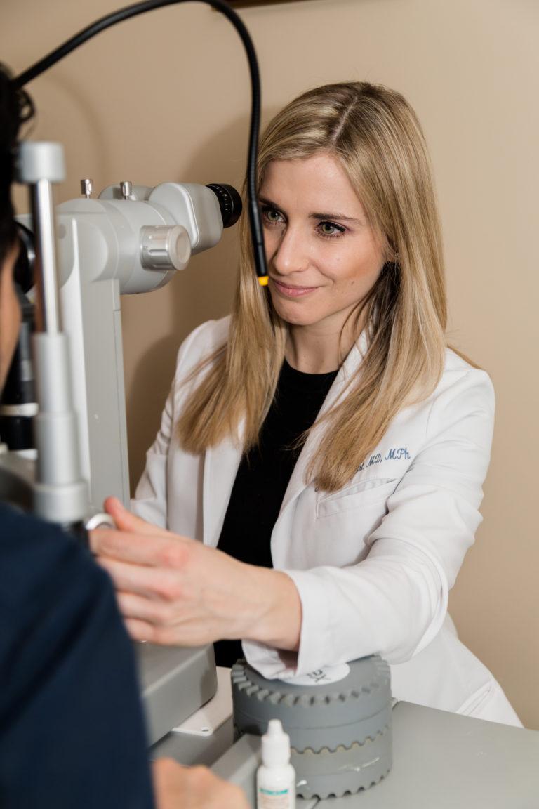 yuna rapoport in white eye doctor coat